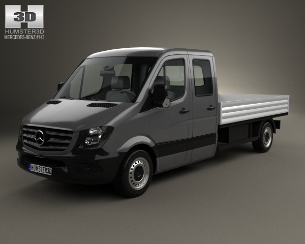 Mercedes-Benz Sprinter Drop Side Double Cab 2013 3D Model
