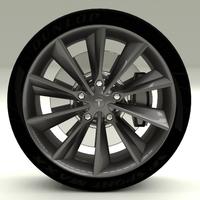 Tesla Model S Wheel 3D Model