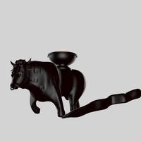 bull statue chocolate 3D Model