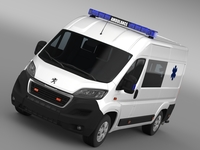 Peugeot Boxer Van Ambulance 2015 3D Model