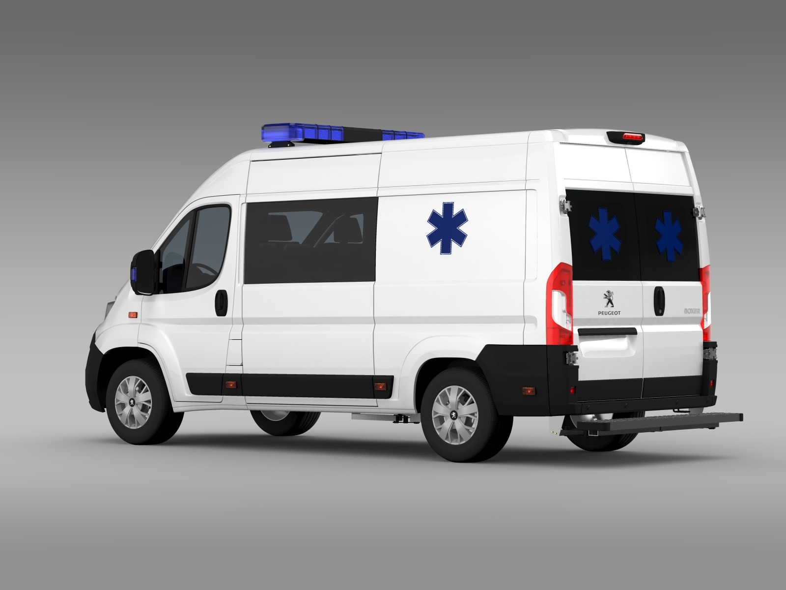 peugeot boxer van ambulance 2015 3d model. Black Bedroom Furniture Sets. Home Design Ideas