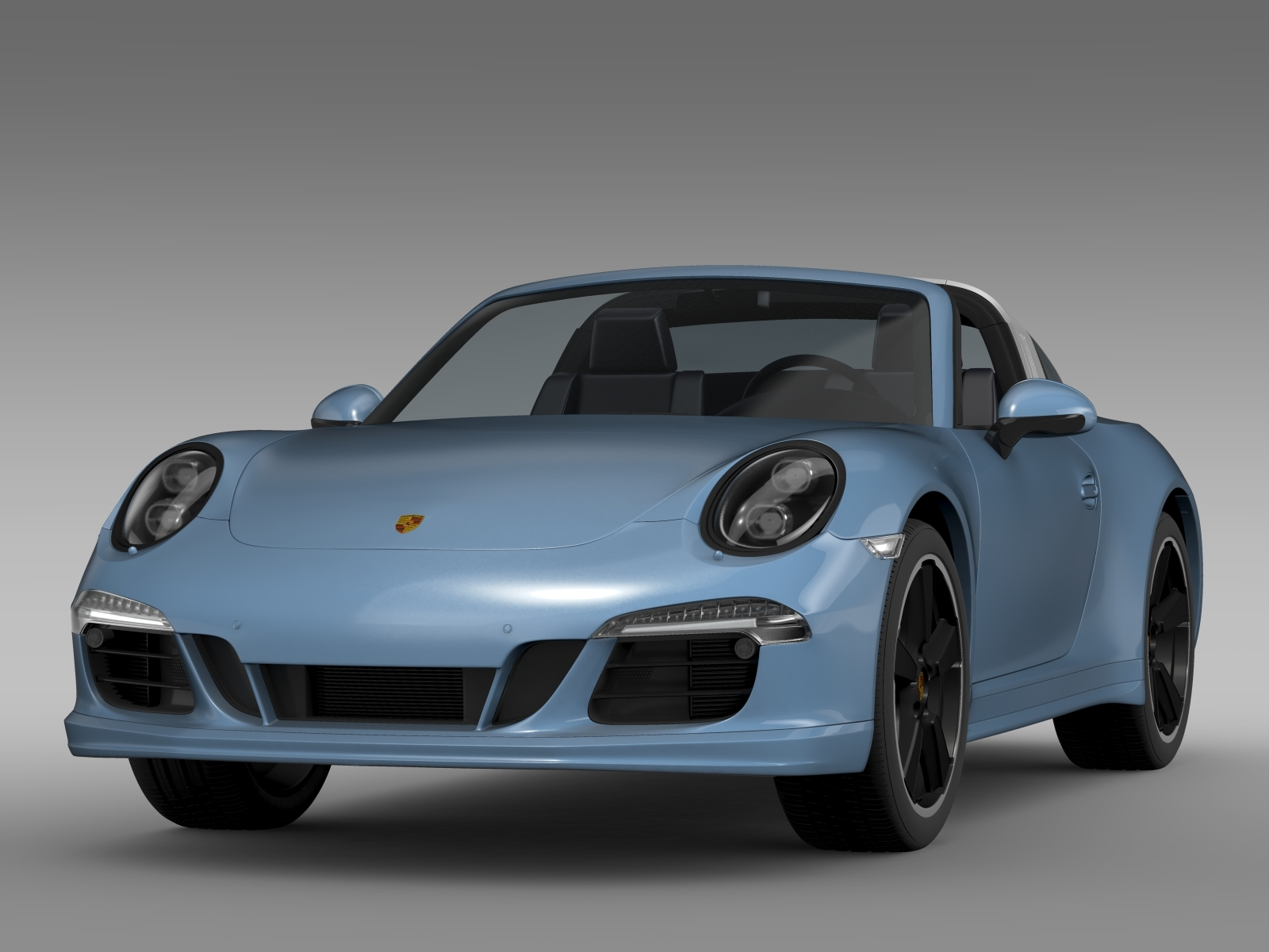 porsche 911 targa 4s exclusive 2015 3d model. Black Bedroom Furniture Sets. Home Design Ideas