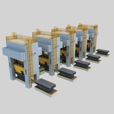Single Action Mechanical Press 3D Model