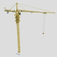 Tower Crane 3D Model