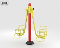 Playground Swing Seats 3D Model