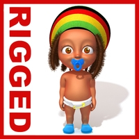 Baby Jake Rastafarian Rigged 3D Model