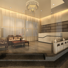 Chinese Lounge tea habitat 3D Model
