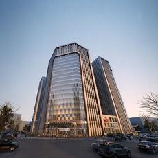 Dusk Financial Center Building 3D Model