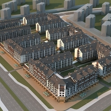 European residential 3D Model
