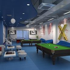 Game rest room 3D Model