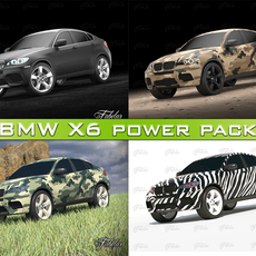 BMW X6 Power Pack 3D Model