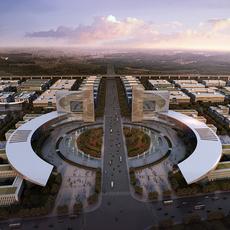 Industrial Area Planning 3D Model
