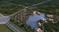 Island Resort village 3D Model