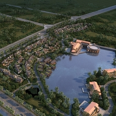 Island Resort village 3D Model