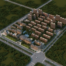 Large urban communities 3D Model