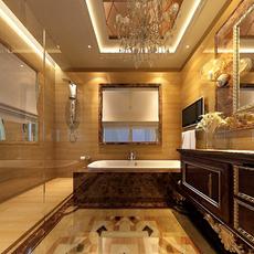 Luxury bathroom 3D Model