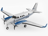 Beechcraft King Air c90gtx 3D Model