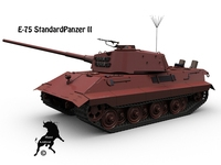 E-75 StandardPanzer II 3D Model