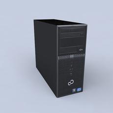 fujitsu p400 i3 PC 3D Model