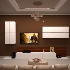 Living room modern 3D Model
