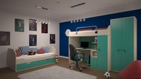 Interior child bedroom 3D Model