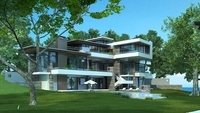 Modern stylish villa 3D Model
