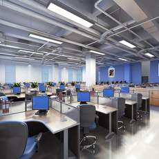 Office area 3D Model