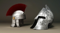 Roman and Spartan Helmet 3D Model