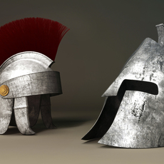 Roman and Spartan Helmet 3D Model