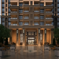 Residential Entrance 3D Model