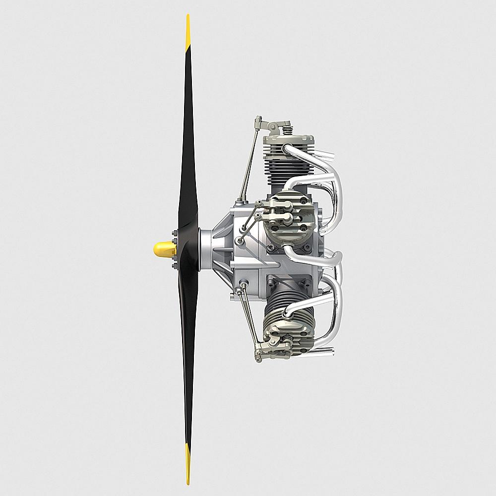 Aircraft Radial Engine V5 3d Model