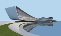 Streamlined architecture 3D Model