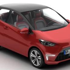 Generic City Car 3D Model