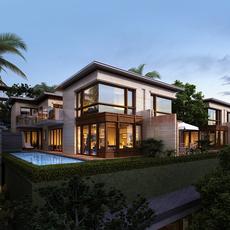 Tropical Villa 3D Model