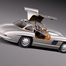 Mercedes-Benz 300 SL Gullwing W198 1954-1957 3D Model