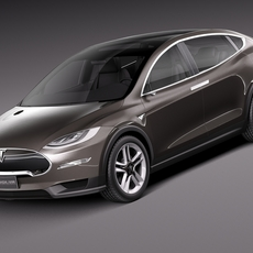 Tesla Model X Prototype 2012 3D Model