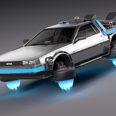 Back To The Future Delorean Episode 2 Future 3D Model