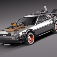 Back To The Future Delorean Episode 3 Wild West 3D Model