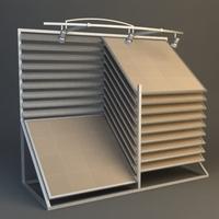 Retail Display Board 3D Model