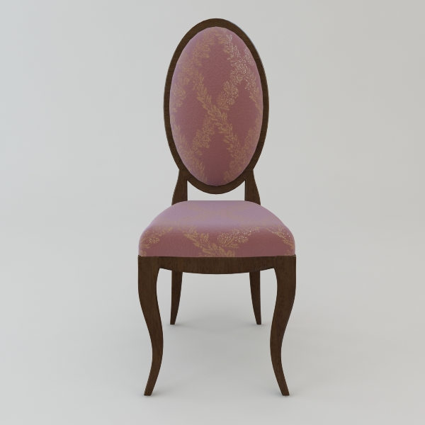 Antique Armless Chair 3D Model