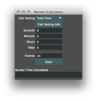 Render Calculator 2.0.0 for Maya (maya script)