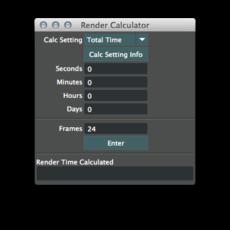 Render Calculator for Maya 2.0.0 (maya script)