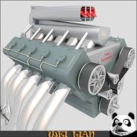V10 Engine 3D Model