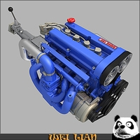 L4 Engine 3D Model