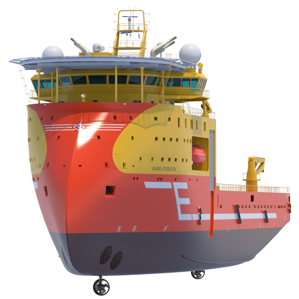 Offshore Construction Vessel Viking Poseidon 3D Model