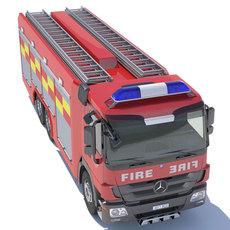 Mercedes Actros Fire Truck 3D Model