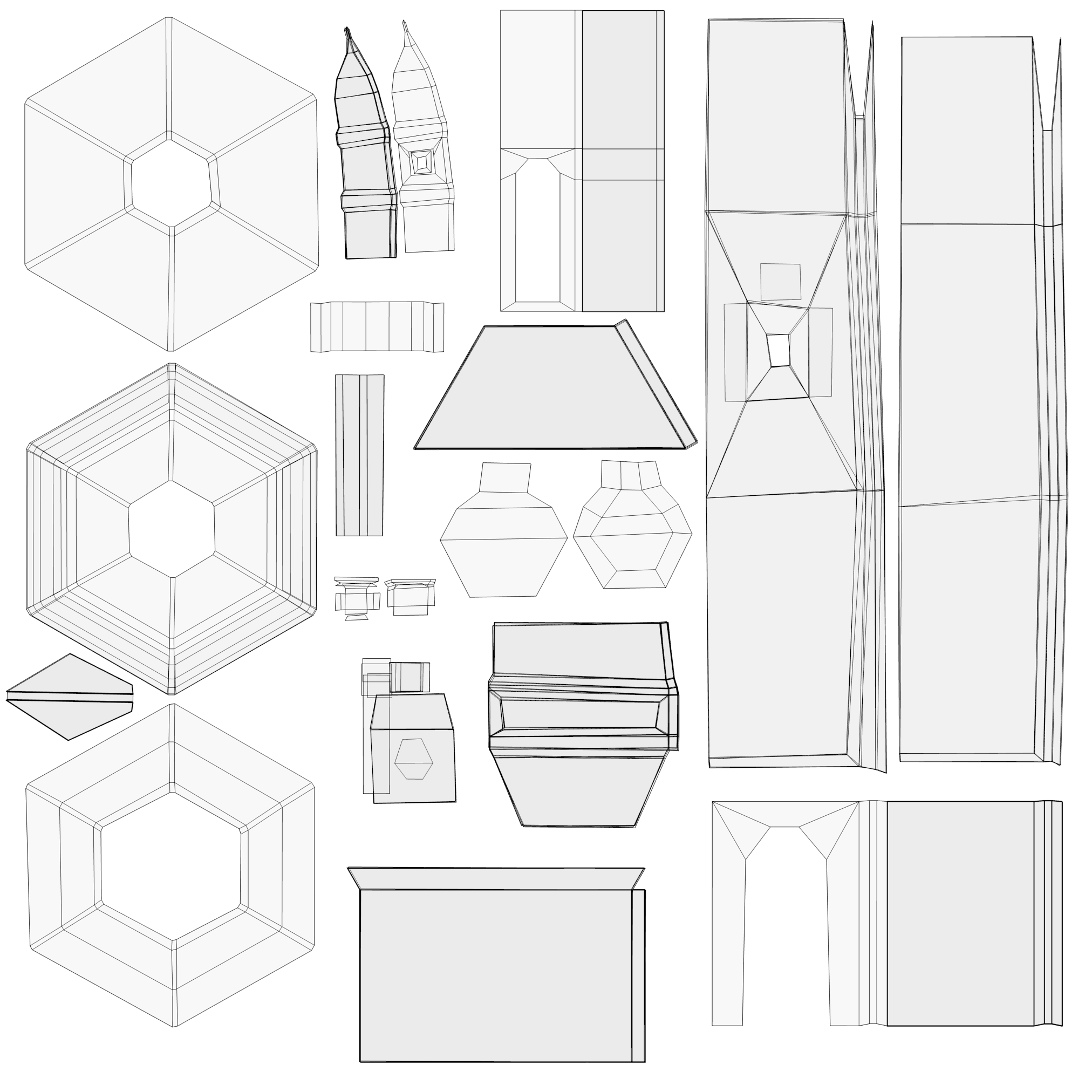 arab moorish minaret low poly building model 3D Model