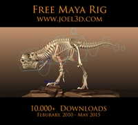 Free T.rex 2 from Joel Anderson for Maya 2.0.2