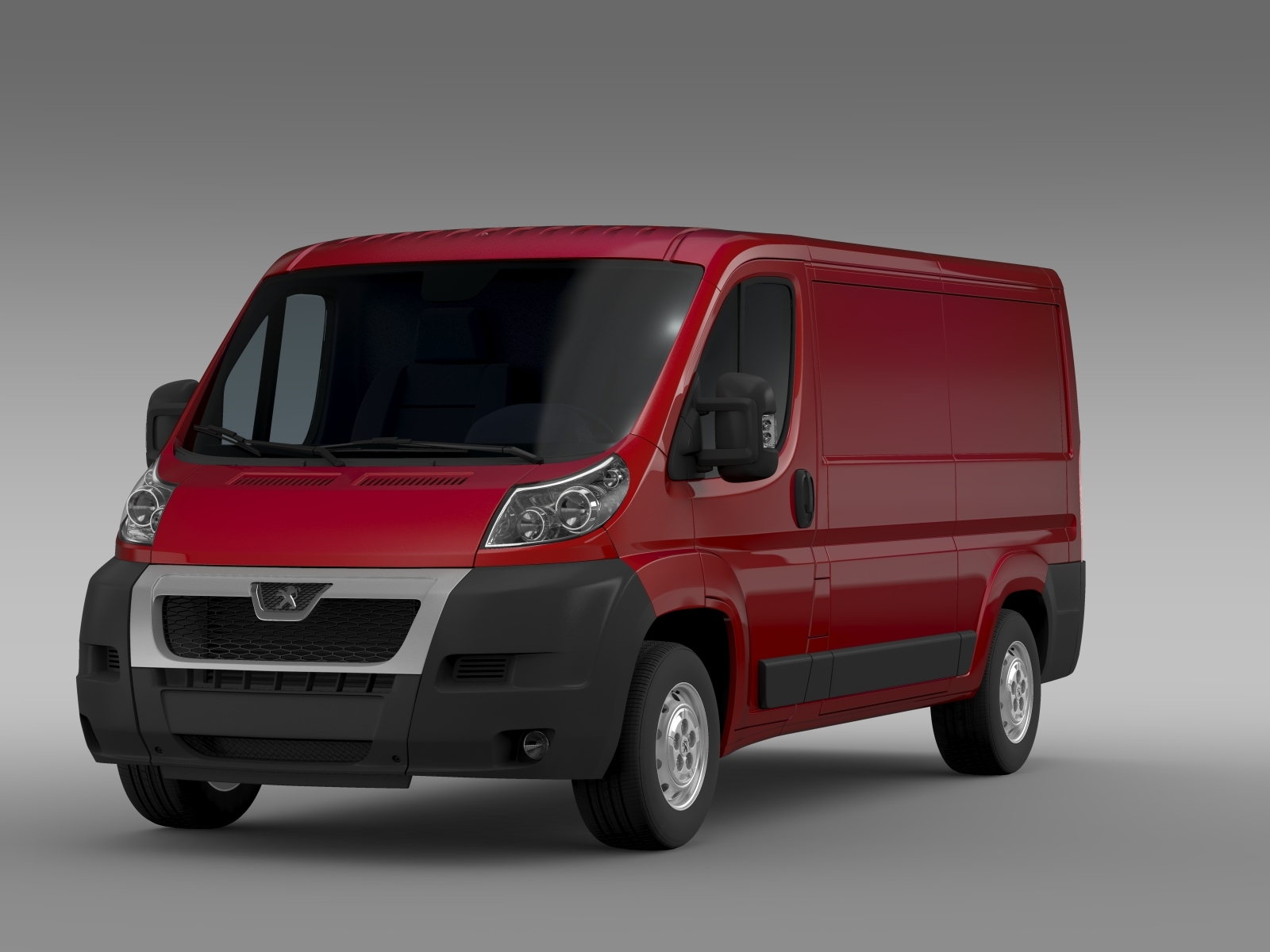 peugeot boxer van l2h1 2006 2014 3d model. Black Bedroom Furniture Sets. Home Design Ideas