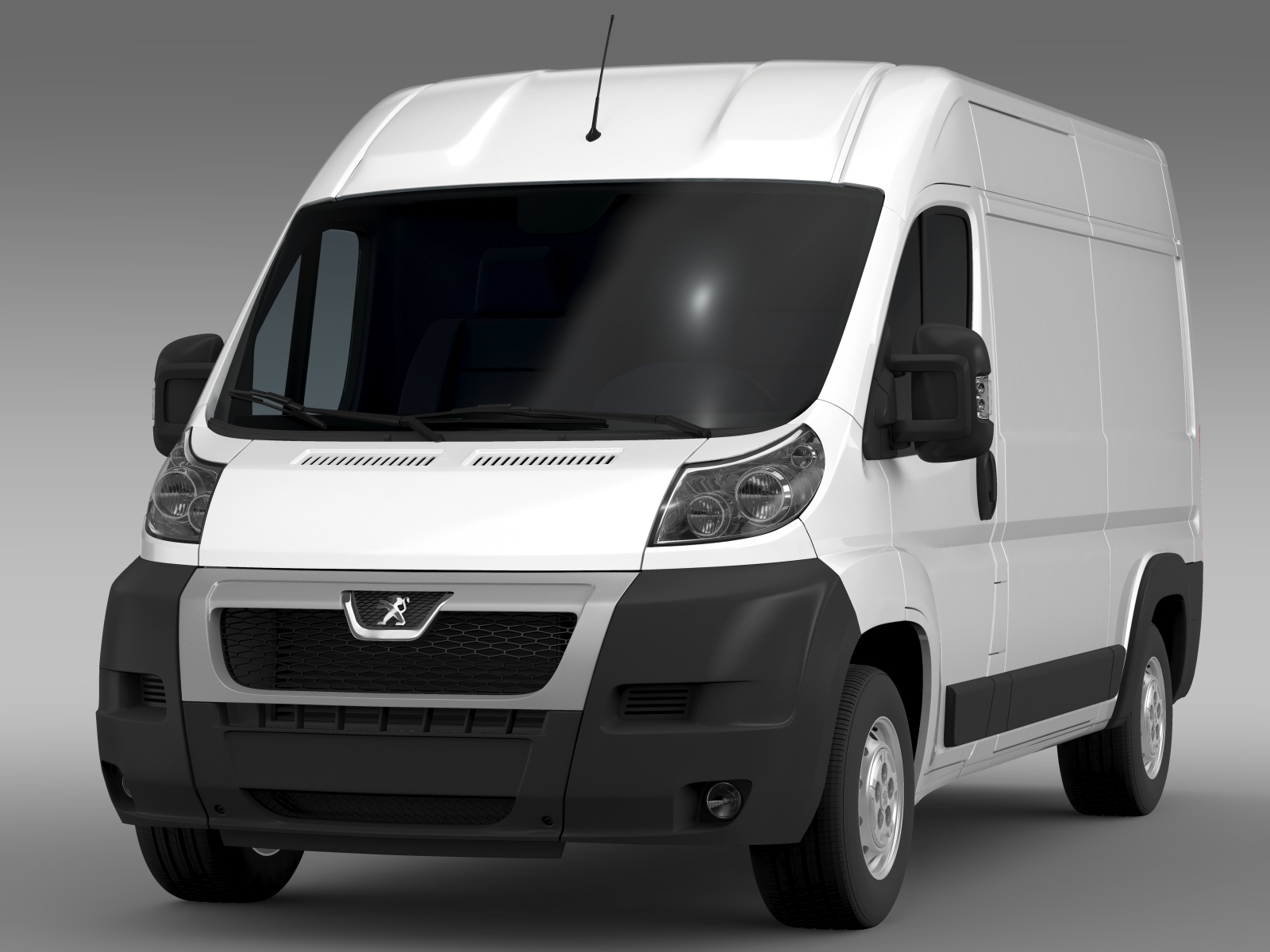 peugeot boxer van l2h2 2006 2014 3d model. Black Bedroom Furniture Sets. Home Design Ideas